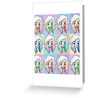 Pop Art Rosy Greeting Card