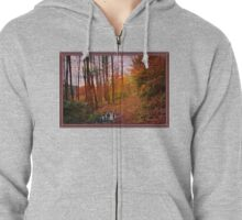 Somewhere in Time ~ A Logging Trail Zipped Hoodie