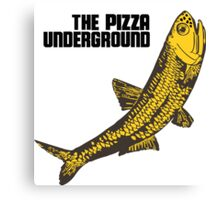 Pizza Underground Fish Canvas Print