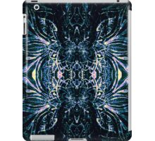 Blue drawing symmetry iPad Case/Skin
