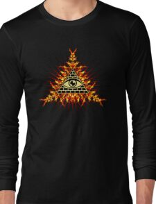 All Seeing Eye Of God, Flames - Symbol Omniscience Long Sleeve T-Shirt