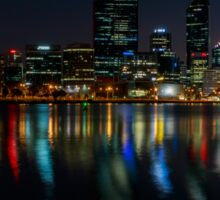 Perth by night over the Swan River Sticker