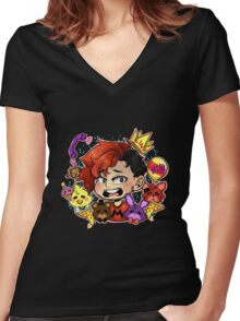 FNAF Markimoo Women's Fitted V-Neck T-Shirt