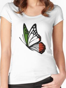 Italian Flag Butterfly Women's Fitted Scoop T-Shirt