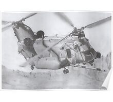 CH-47 Chinook pencil drawing Poster
