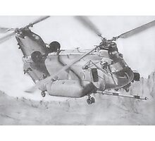CH-47 Chinook pencil drawing Photographic Print