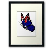 Australian  Flag Butterfly Framed Print