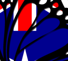 Australian  Flag Butterfly Sticker