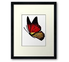 Germany Flag Butterfly Framed Print