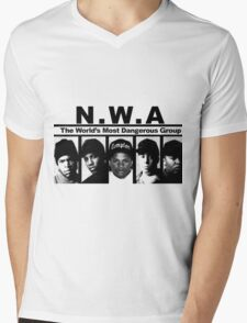 N W A The World's most dangerous Group Mens V-Neck T-Shirt