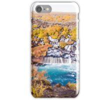 Hraunfossar waterfall, Iceland iPhone Case/Skin