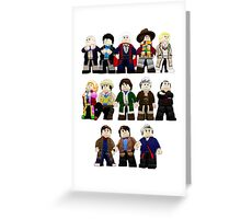 Doctor Who - Toy Doctors Greeting Card