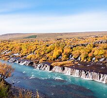 Hraunfossar waterfall, Iceland by Stanciuc
