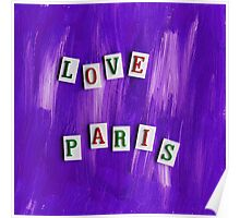 Love Paris Poster