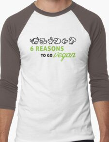 6 reasons to go vegan Men's Baseball ¾ T-Shirt
