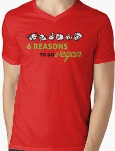 6 reasons to go vegan Mens V-Neck T-Shirt