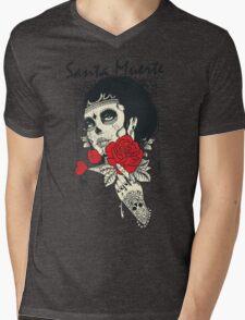 Santa Muerte Mens V-Neck T-Shirt