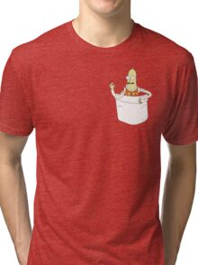 Stealy Pocket Tee - Rick and Morty Tri-blend T-Shirt