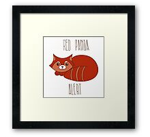Red panda alert Framed Print