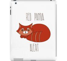Red panda alert iPad Case/Skin
