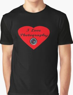 I Love Photography Shirt and Sticker Graphic T-Shirt