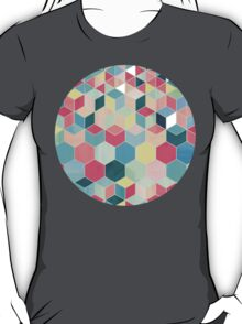 Yummy Summer Colour Honeycomb Pattern T-Shirt