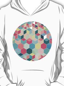 Yummy Summer Colour Honeycomb Pattern T-Shirt