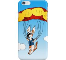Fallschirmspringer Hund iPhone Case/Skin