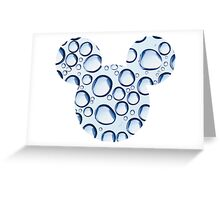 Mouse Water Bubble Patterned Silhouette Greeting Card
