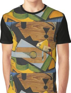Juan Gris - Still Life With A Guitar. Abstract painting: abstract art, geometric,  Guitar, composition, lines, forms, creative fusion, spot, shape, illusion, fantasy future Graphic T-Shirt