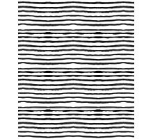 Watercolour Stripes - White and black Photographic Print