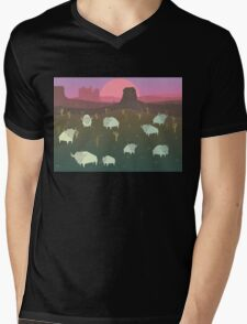 Bison Mens V-Neck T-Shirt