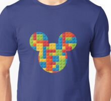Mouse Lego Brick Patterned Silhouette Unisex T-Shirt