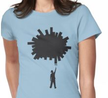 Paint a Hole (silhouette) Womens Fitted T-Shirt
