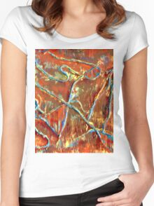 Fire Dancing Abstract Women's Fitted Scoop T-Shirt