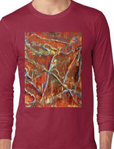 Fire Dancing Abstract Long Sleeve T-Shirt