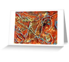 Fire Dancing Abstract Greeting Card
