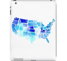 Watercolor United States of America in Blue iPad Case/Skin