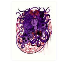 Heartless Purplered Art Print