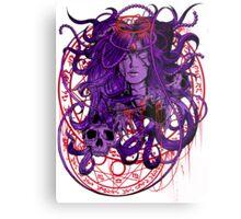 Heartless Purplered Metal Print