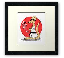 Karate Kämpfer Chi Framed Print