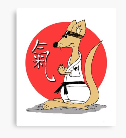 Karate Kämpfer Chi Canvas Print