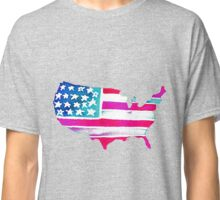 Watercolor United States of America Classic T-Shirt