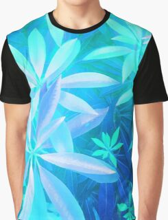 Tropical neon foliage print Graphic T-Shirt
