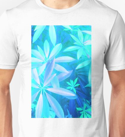 Tropical neon foliage print Unisex T-Shirt