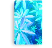 Tropical neon foliage print Canvas Print