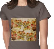 French Cretonne with Apples and Lime Trees Pattern Womens Fitted T-Shirt