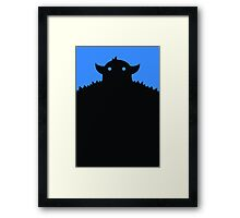 Blue Mountain Monster Framed Print