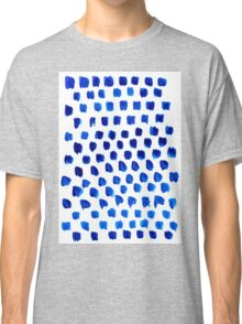 abstract blue dots pattern Classic T-Shirt