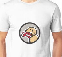 English Setter Dog Head Deflated Volleyball Circle Retro Unisex T-Shirt